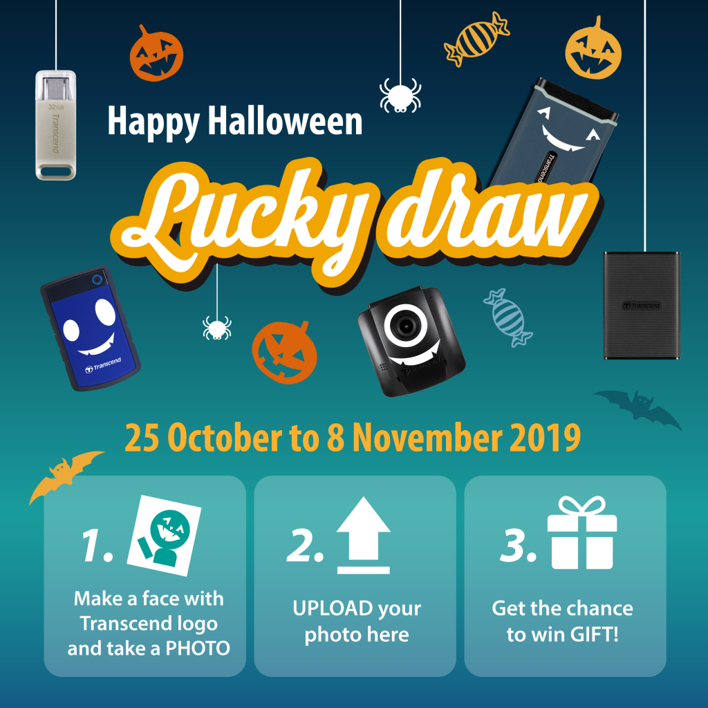Happy Halloween Trick Or Treat With Transcend And Win
