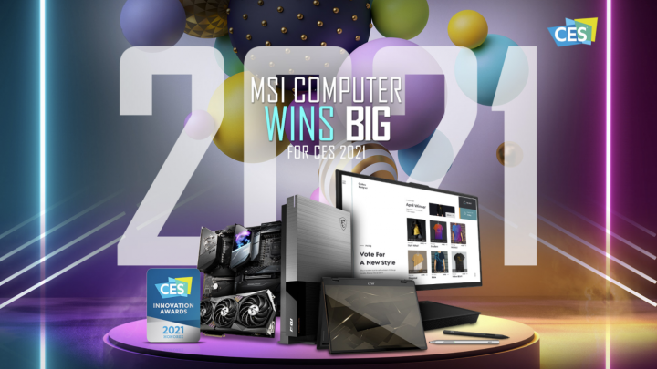 MSI's New Gaming and Computing Lineup Honored with 15 CES 2021 Innovation Awards
