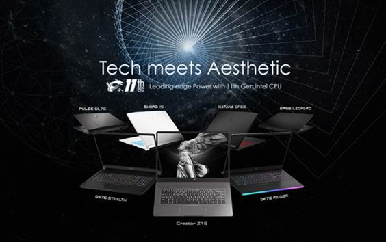 MSI Unveils 2021 Gaming and Creator Laptop Lineup