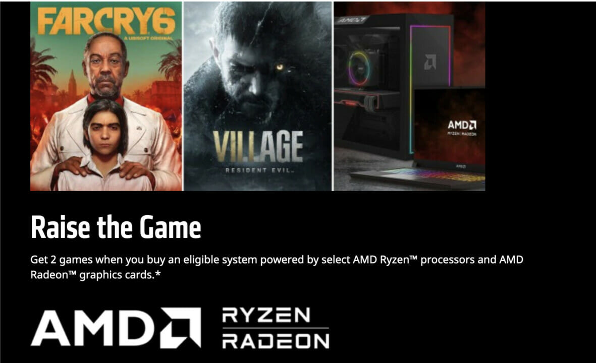 AMD Ryzen + AMD Radeon Game Bundle Offer Featuring Far Cry 6 and Resident Evil Village